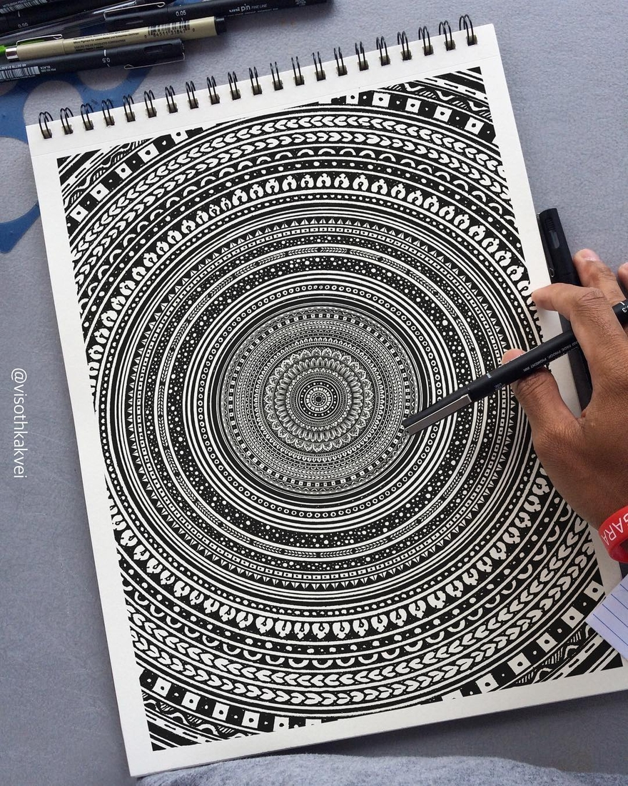 12-Mandala-Visoth-Kakvei-Intricate-Doodles-that-include-Optical-Illusions-www-designstack-co