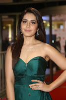 Raashi Khanna in Dark Green Sleeveless Strapless Deep neck Gown at 64th Jio Filmfare Awards South ~  Exclusive 137.JPG