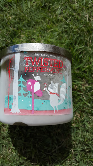 Bath and Body Works 'Twisted Peppermint' 3 Wick Candle - www.modenmakeup.com