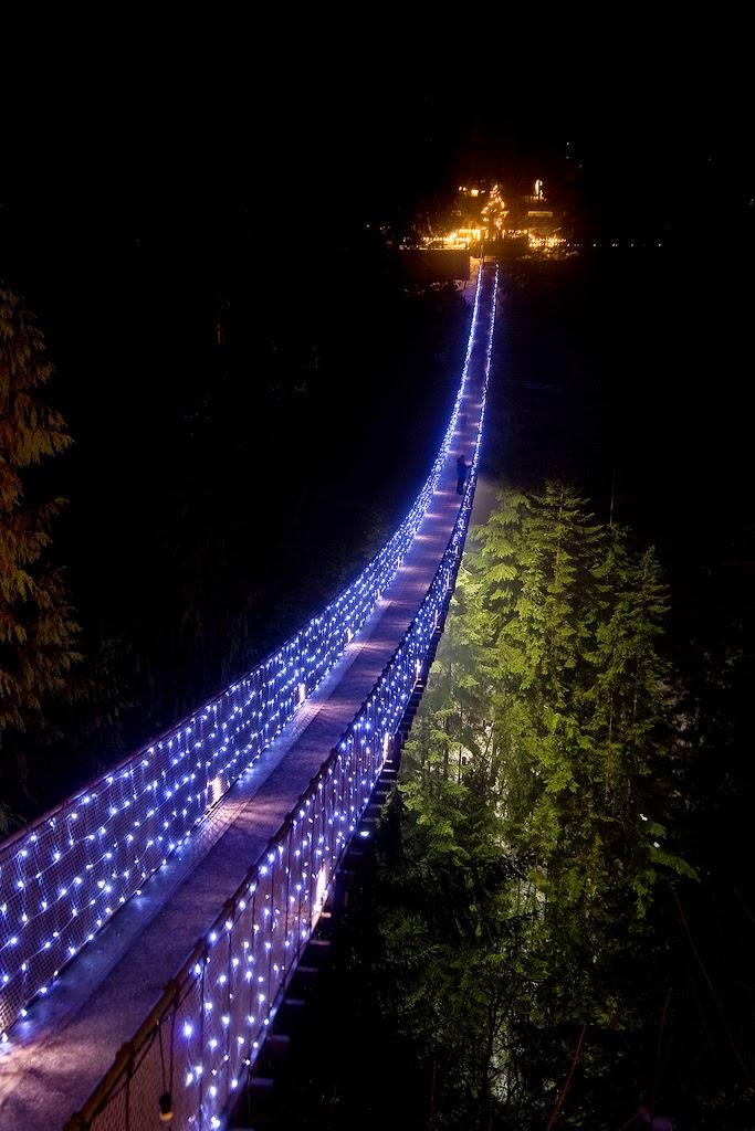 Capilano Suspension Bridge in Christmas