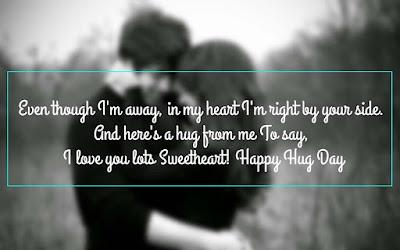 Beautiful Happy Hug Day 2017 Message
