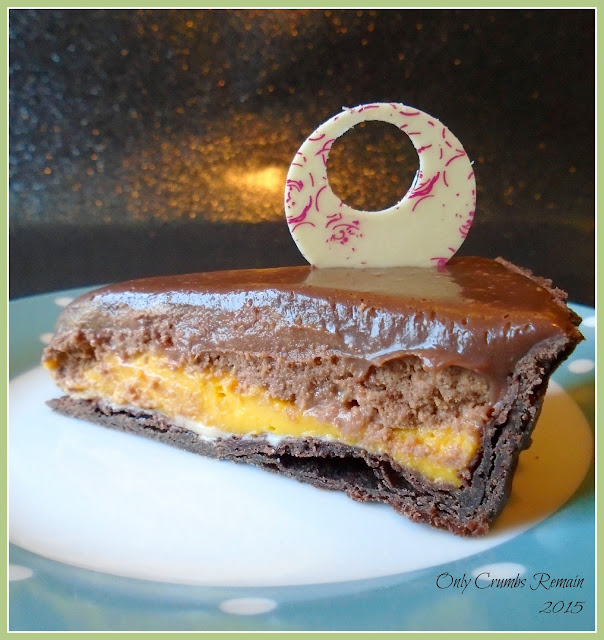 Triple Chocolate and Mango Tart