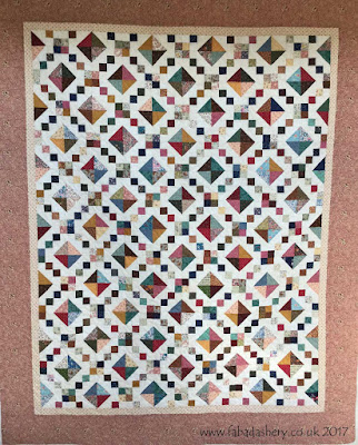 'Jewel Box Quilt' made by Margaret,  quilted by Frances Meredith at Fabadashery