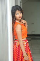 Shubhangi Bant in Orange Lehenga Choli Stunning Beauty ~  Exclusive Celebrities Galleries 029.JPG