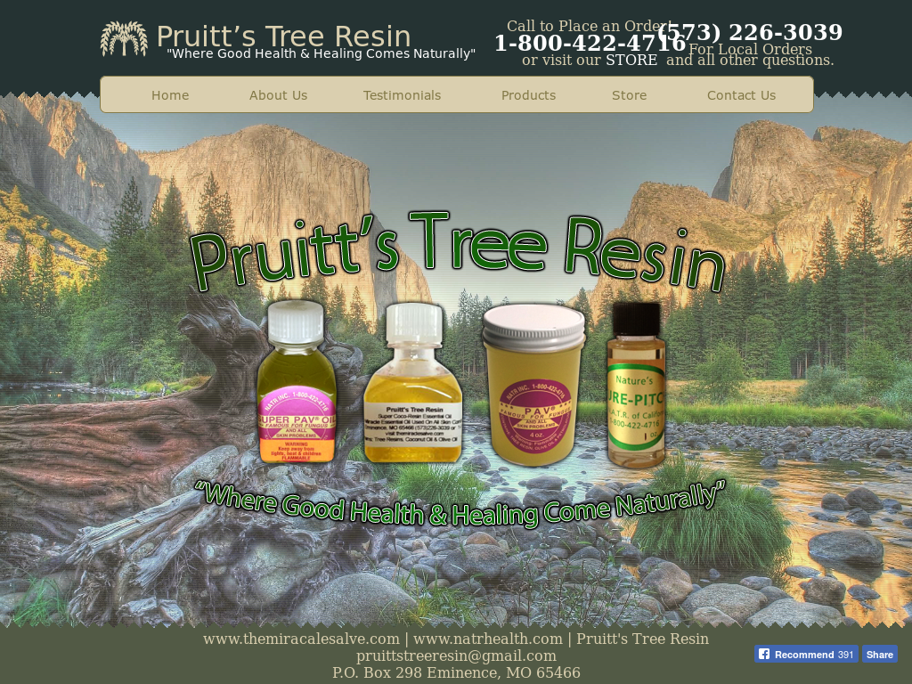 PRUITT'S TREE RESIN