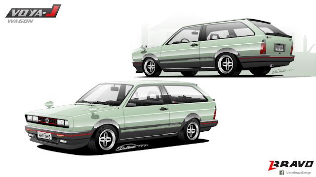 Imagem do desenho do Volkswagen Parati ''Voya-J Wagon''