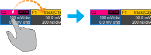 Changing the source of a trace is as simple as a drag-and-drop of the desired source's descriptor box onto the target descriptor box