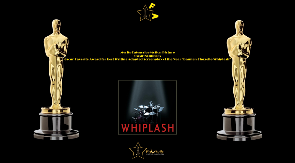 oscar favorite best writing adapted screenplay award damien chazelle whiplash
