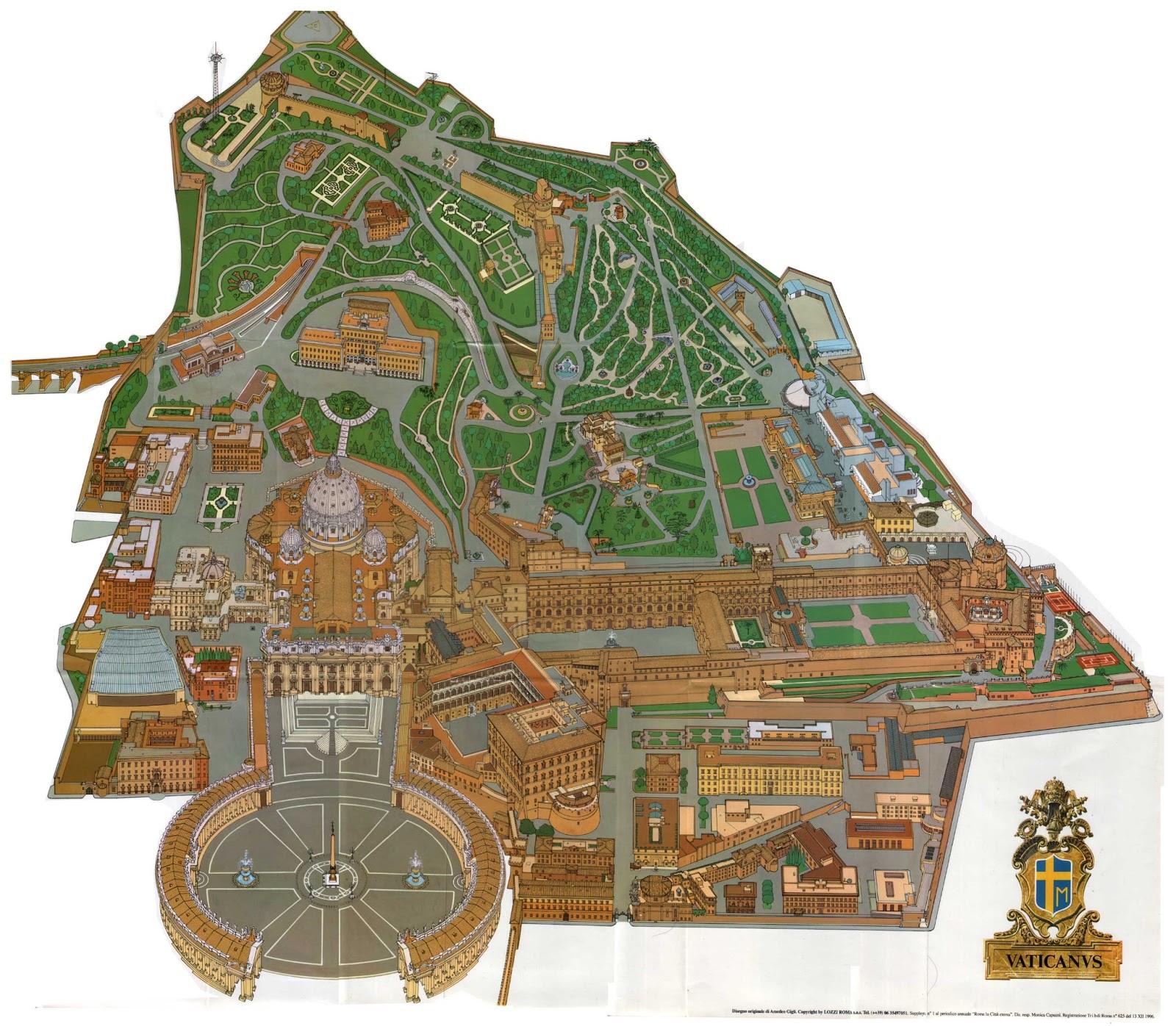 Etat du Vatican | Cartes géographiques d'Etat du Vatican
