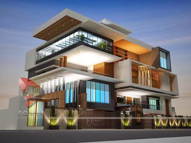 3D Front Elevation Design Bungalow