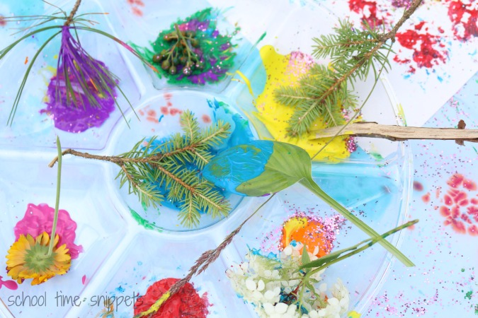 Painting with Nature for Kids