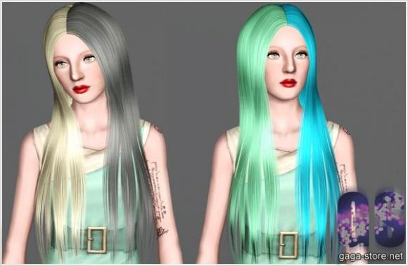 Half Colors Hair  David Sims