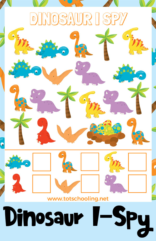 photo regarding I Spy Printable named Totally free Dinosaur I-Spy Printable Totschooling - Child