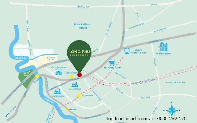 Vị trí dự án Long Phú Villa