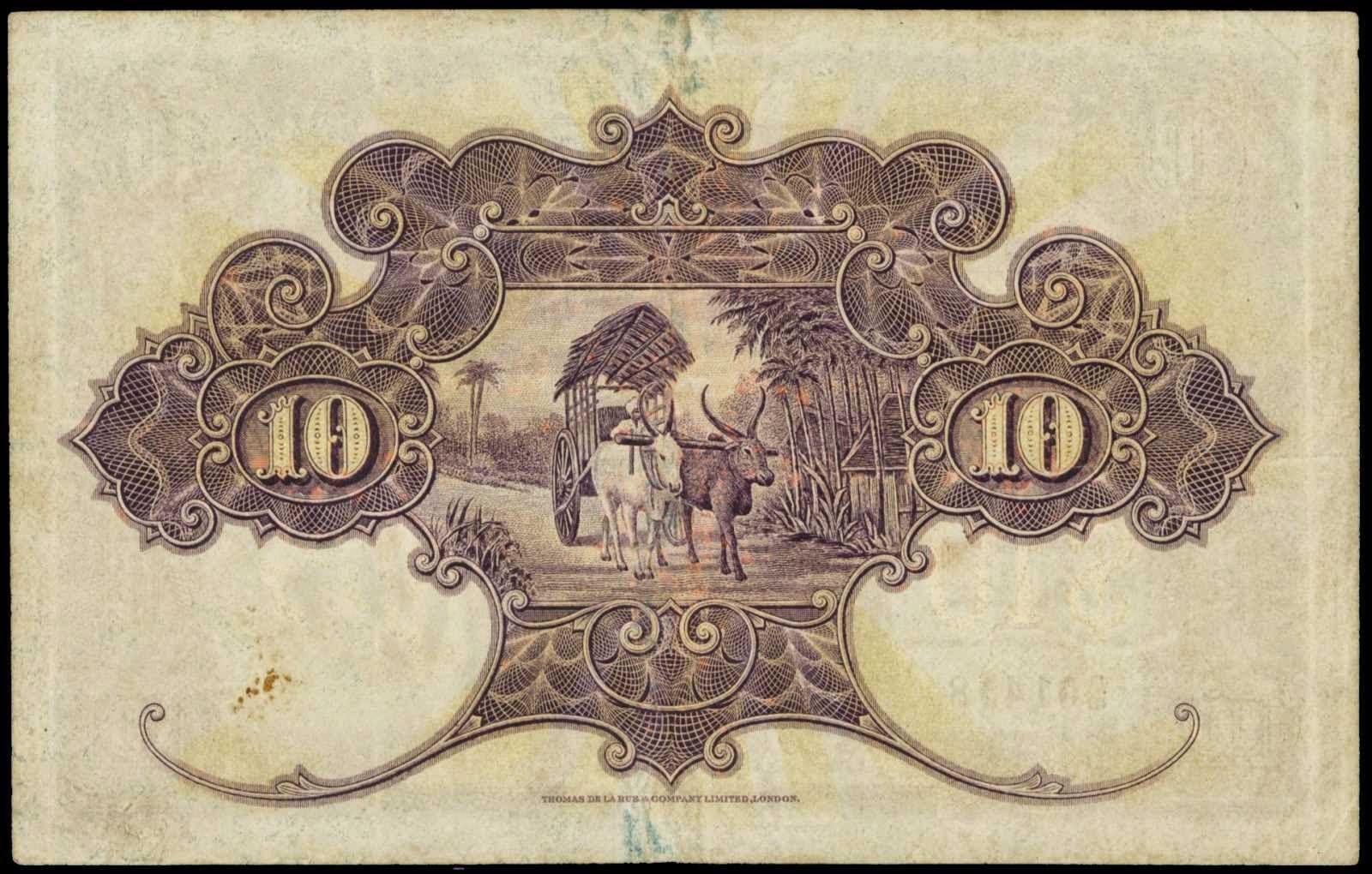 Straits Settlements paper money 10 Dollars