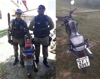 Polícia Militar recupera duas motos roubadas na cidade de São Bento-PB