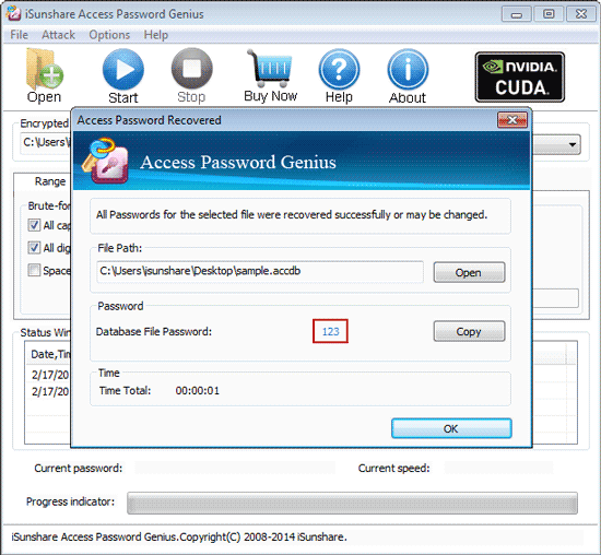 recover access 2016 database password successfully