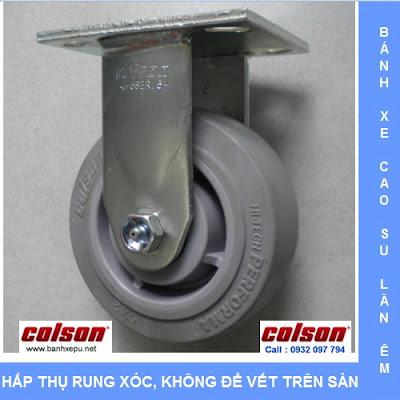 Bánh xe cao su lăn không tạo tiếng ồn Colson phi 125 | 4-5108-459 www.banhxedayhang.net
