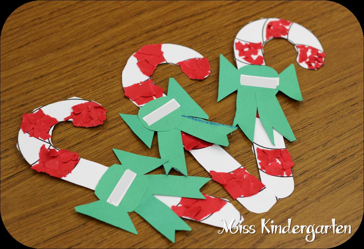 Candy Cane Tear Art Holiday Craft Ideas