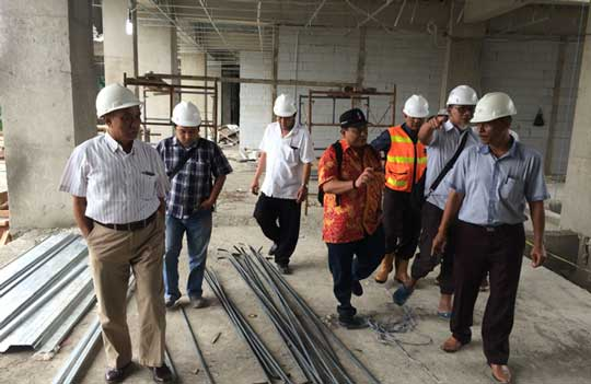 dpupr kota cirebon janji tes kekuatan struktur bangunan gedung setda