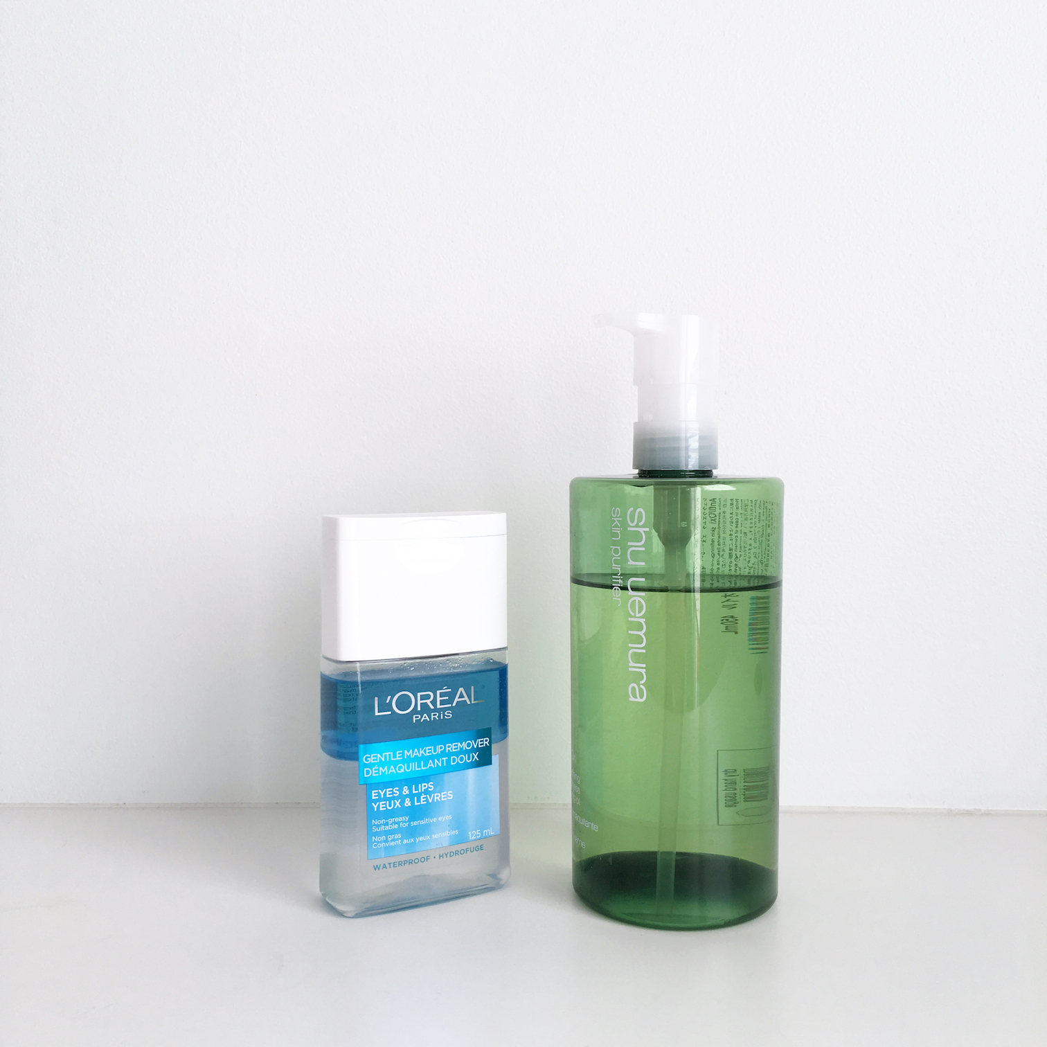 shu uemura anti oxi cleaning oil review l'oreal gentle makeup remover