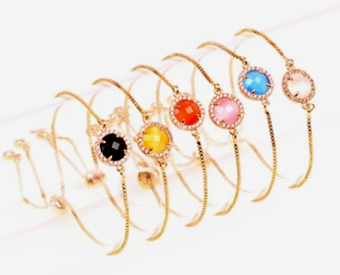 Crystal&CZ Fashion Flowers bracelet (red) NHPY0244-red –Price:US$2.99