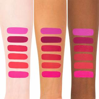 Kat Von D Liquid Lipstick Bauhau5 Swatch on light, medium, and dark skin