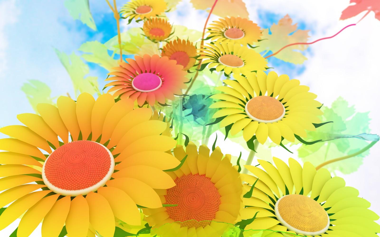 Free Download Wallpaper HD : 3d Flower High Resolution