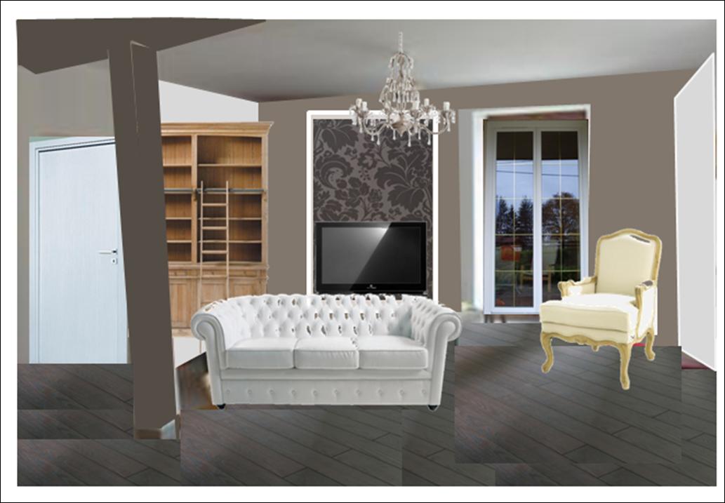 papier peint taupe et beige. Black Bedroom Furniture Sets. Home Design Ideas