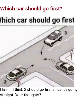 Which car should go first?