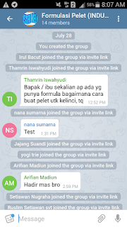 Group Telegram Formulasi Pelet Kelinci