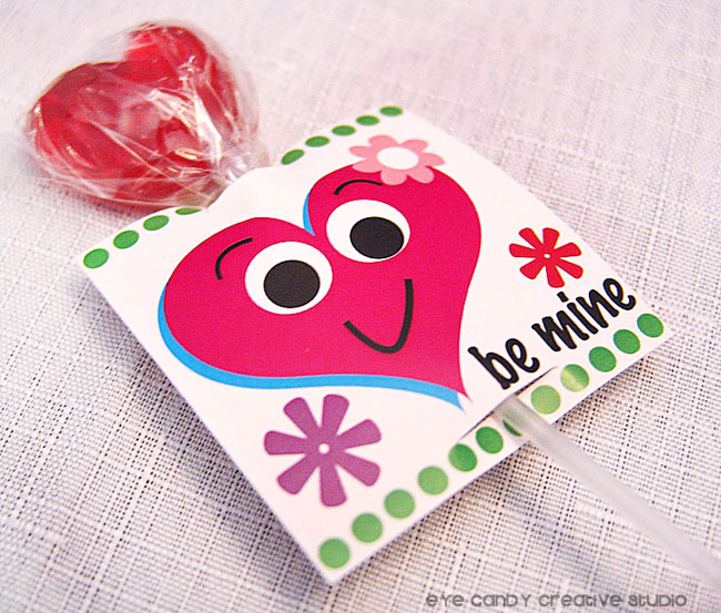 silly hearts valentines, lollipop valentine holder, kids valentines idea