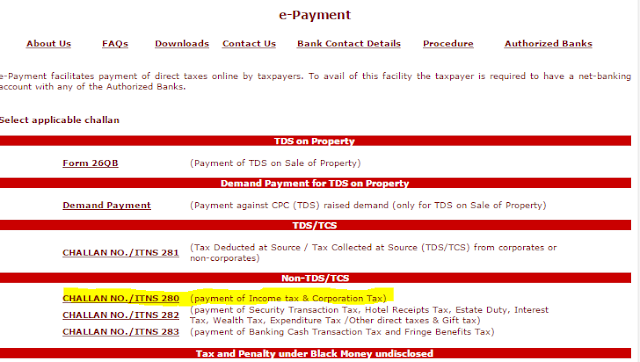 Income Tax filling-income tax online-income tax department