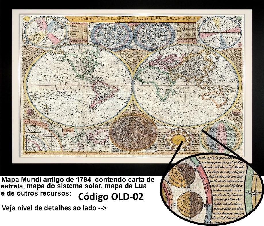 mapa antigo mundi