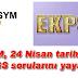 ÖSYM, 24 Nisan EKPSS sorularını yayımladı