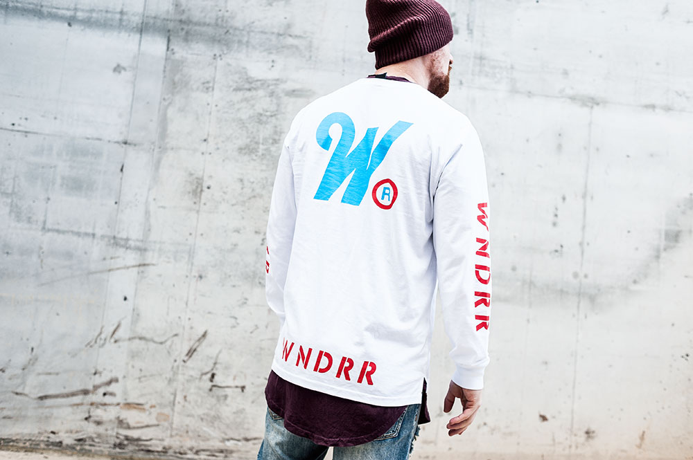 WNDRR Detox L/S White Tee / MNML M1 Denim / Nixon Regain Bordeaux Beanie / H&M Burgundy Scoop Tee by Tom Cunningham