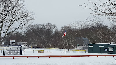 Fletcher FIeld in the snow