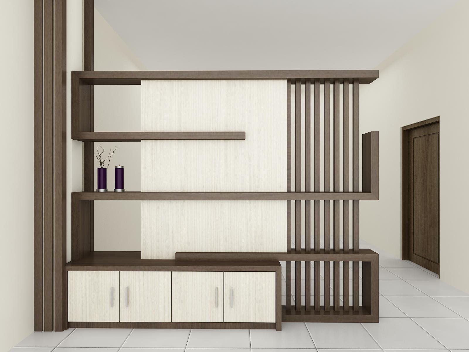 Desain Sekat Antara Ruang Tamu Dan Ruang Keluarga Gambar Desain