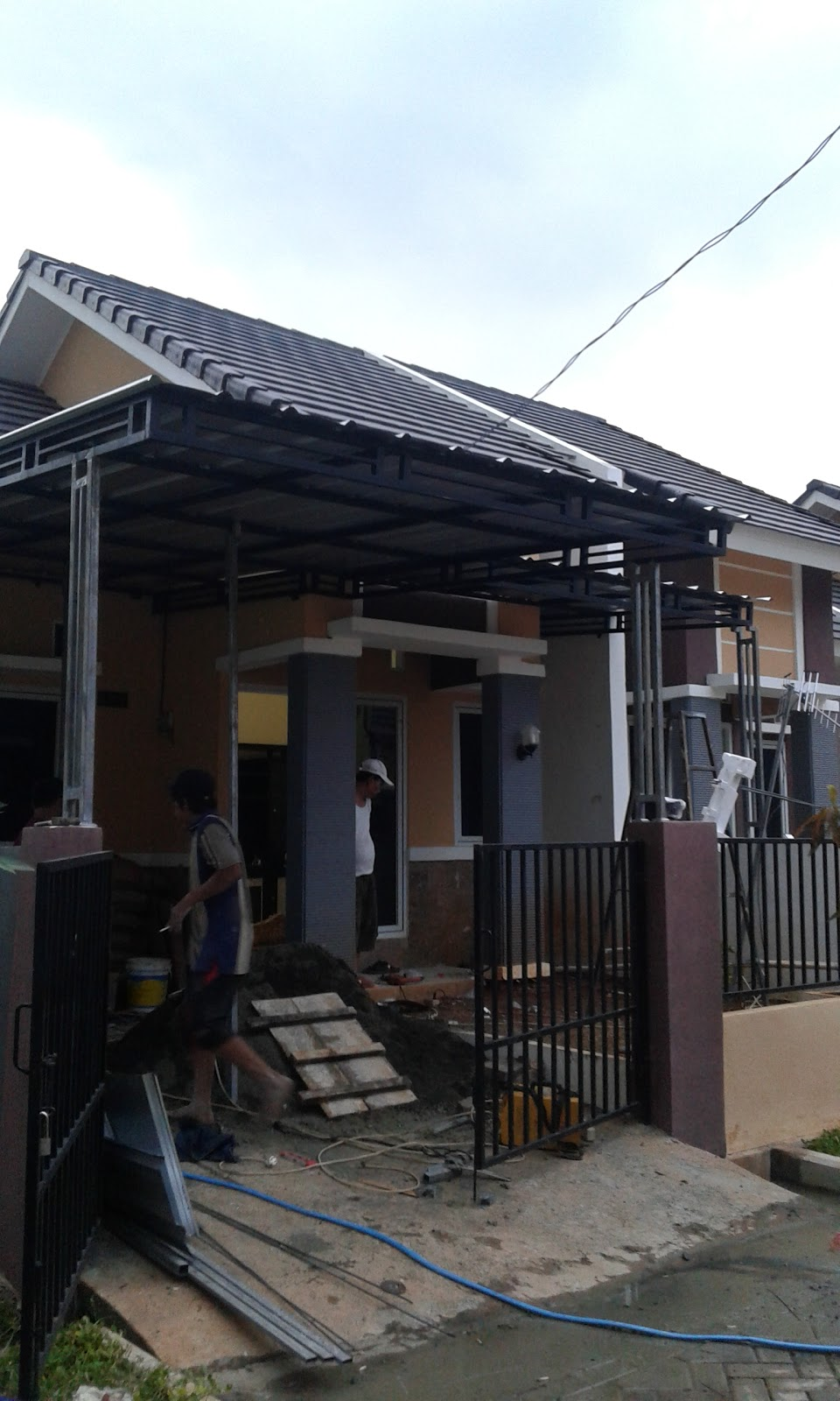 Baja Ringan Teras Rumah Kanopi Atap Spandek - Bengkel Las Cilengsi| Arbainlas