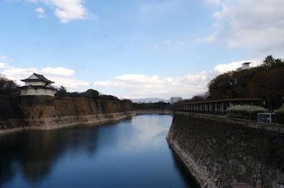 River outside Osaka Castle in Japan