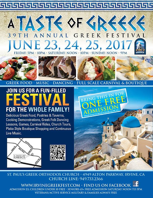 "Saint Paul's Greek Orthodox church hosts, ""A Taste of Greece""."