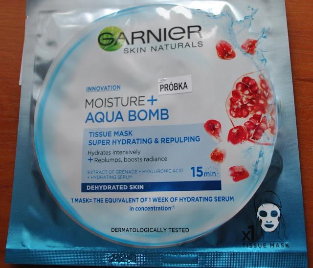 Maseczka w płachcie Moisture Aqua bomb z Garnier'a- Recenzja