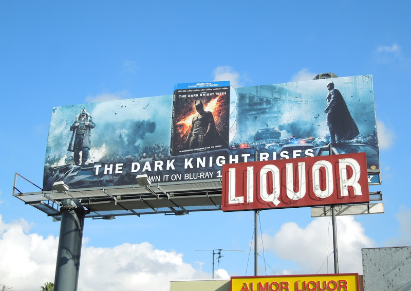 Dark Knight Rises Bluray billboard