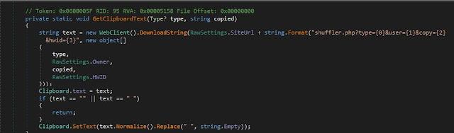 Tomando la dirección de un servidor y estableciéndola en el portapapeles imagen