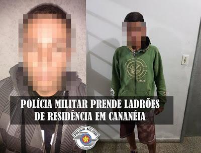 POLÍCIA MILITAR CAPTURA LADRÕES DE RESIDÊNCIA EM CANANÉIA
