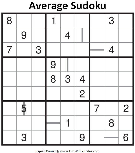 Average Sudoku (Daily Sudoku League #136)