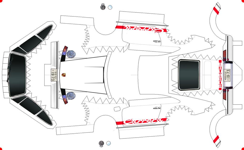 Armando se aprende: PORSCHE 911 Carrera para armar en papel