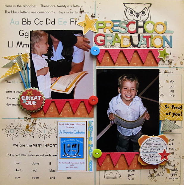 Graduation Scrapbook Page Idea