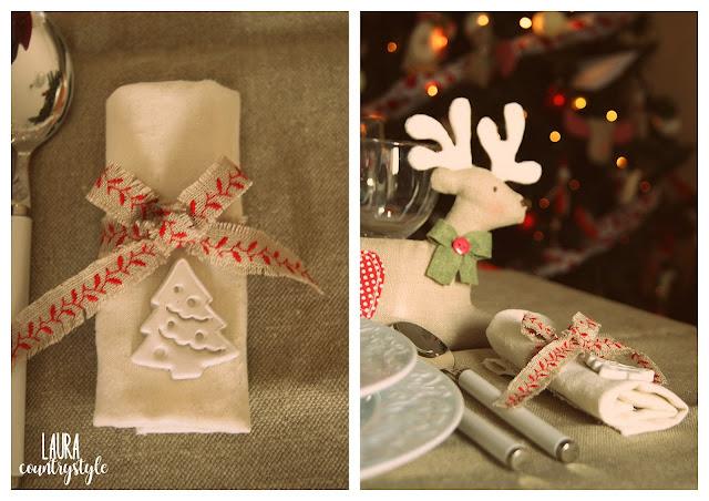 Come porta candela ho usato un vecchio addobbo per l albero a forma di  stampino per crostata ed ho legato al tovagliolo 4bb156951dd7