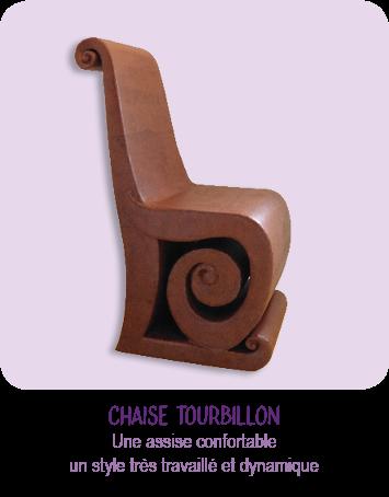 chaise design en carton - pour l'ameublement maison et la décoration  intérieure - meuble moderne en carton - marron